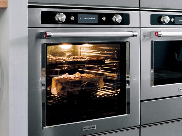Multifunctionele ovens grote huishoudapparaten kitchenaid - Forno elettrico e microonde combinato da incasso ...