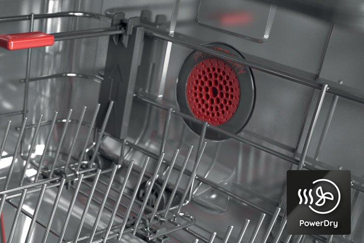 PowerDry trocknet selbst Kunststoff außergewöhnlich gut.