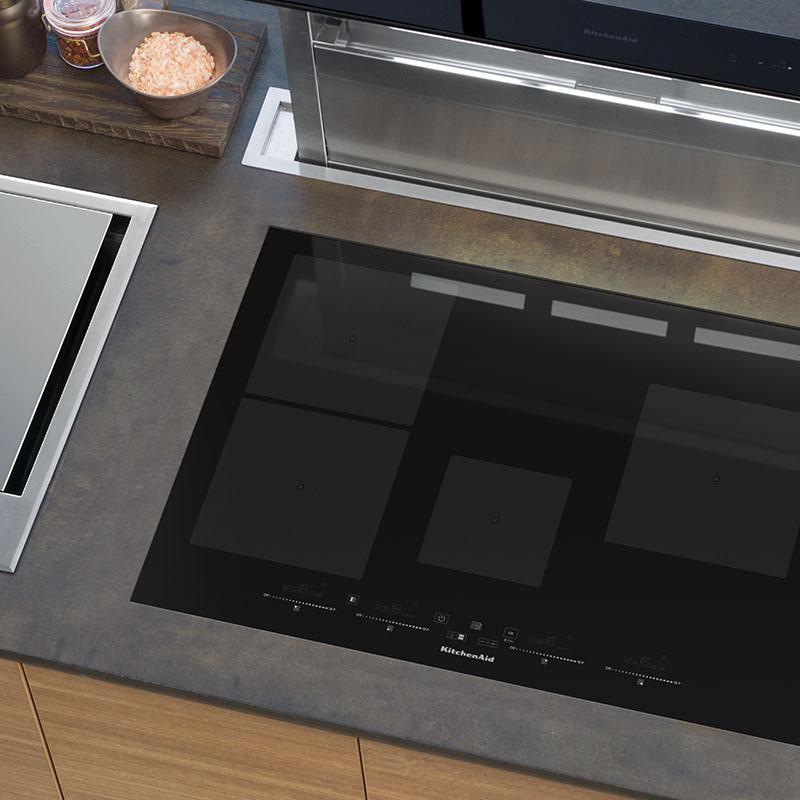 90 cm induktionskochfeld khip5 90510 offizielle website von kitchenaid. Black Bedroom Furniture Sets. Home Design Ideas