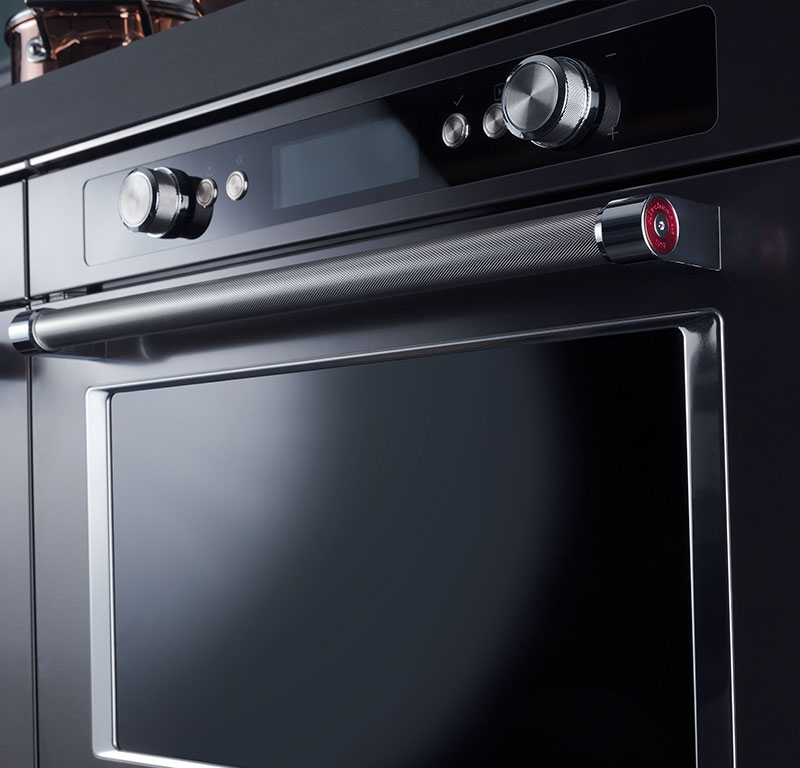 Four combin vapeur 45 cm en acier inoxydable noir koqcxb 45600 site officiel kitchenaid - Forno e microonde insieme ...