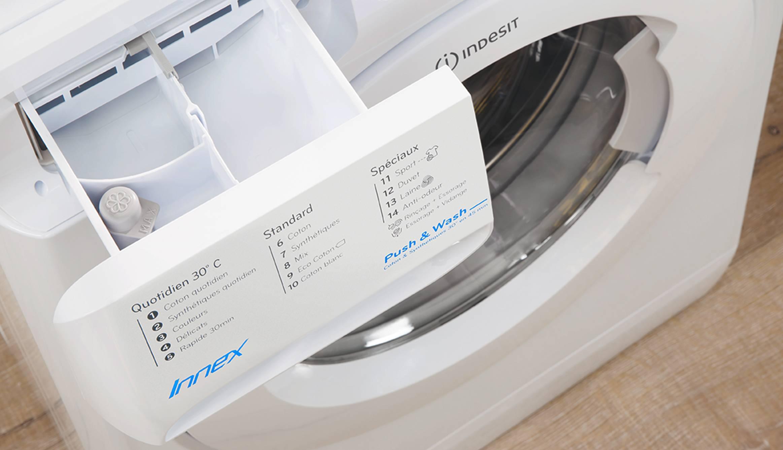 freestanding front loading washing machine innex indesit indesit affordable reliable. Black Bedroom Furniture Sets. Home Design Ideas