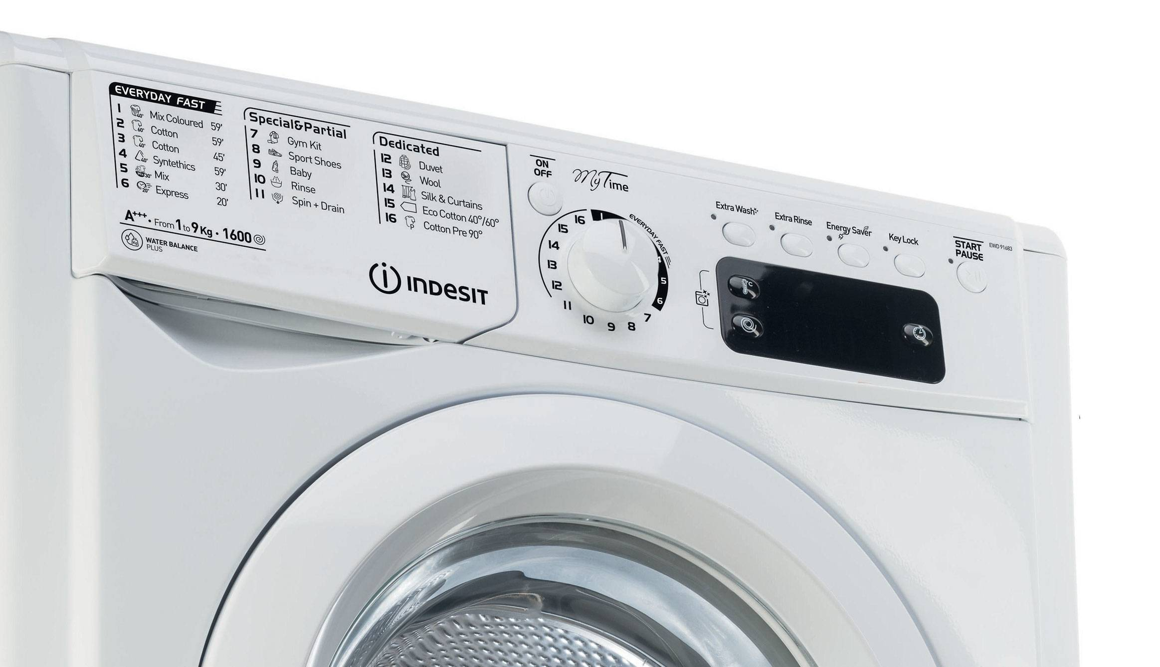 Washing machine: Class A+++ energy saving - My Time Indesit
