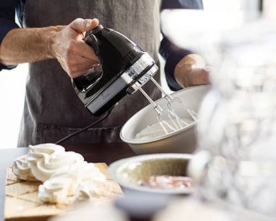 The KitchenAid 9-speed hand mixer.
