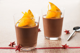 Cremeux chocolat, orange nougatine pistache