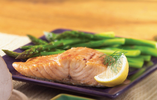 Fillet of Salmon, Asparagus & Orange Vinaigrette