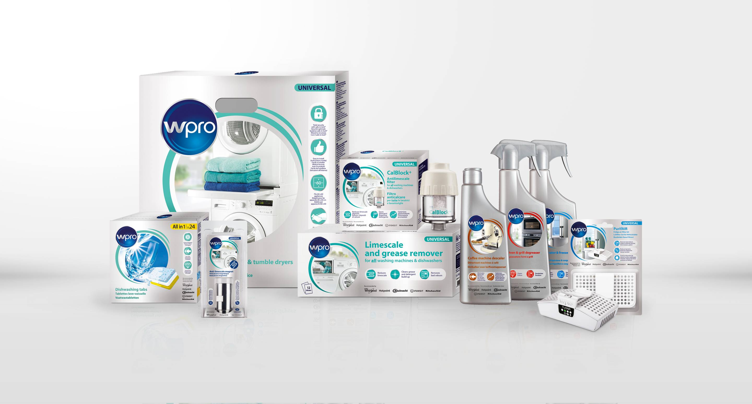 Introducing the Wpro range of accessories and home care products