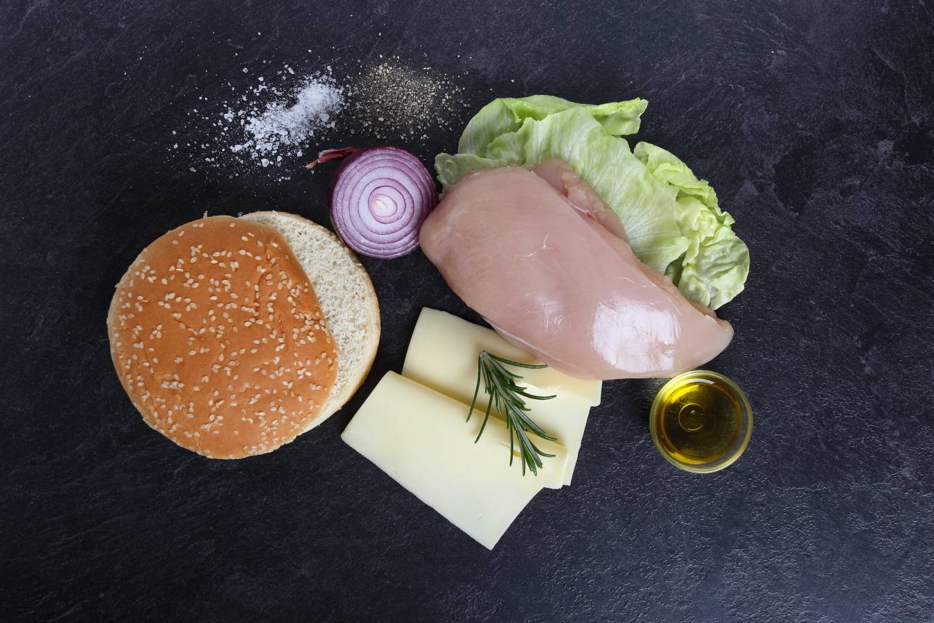 Ingredients - Chicken Cheeseburgers