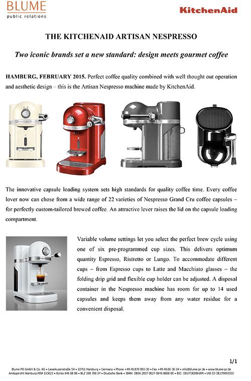 Premium Kitchen Appliances Kitchenaid Uk Press Release