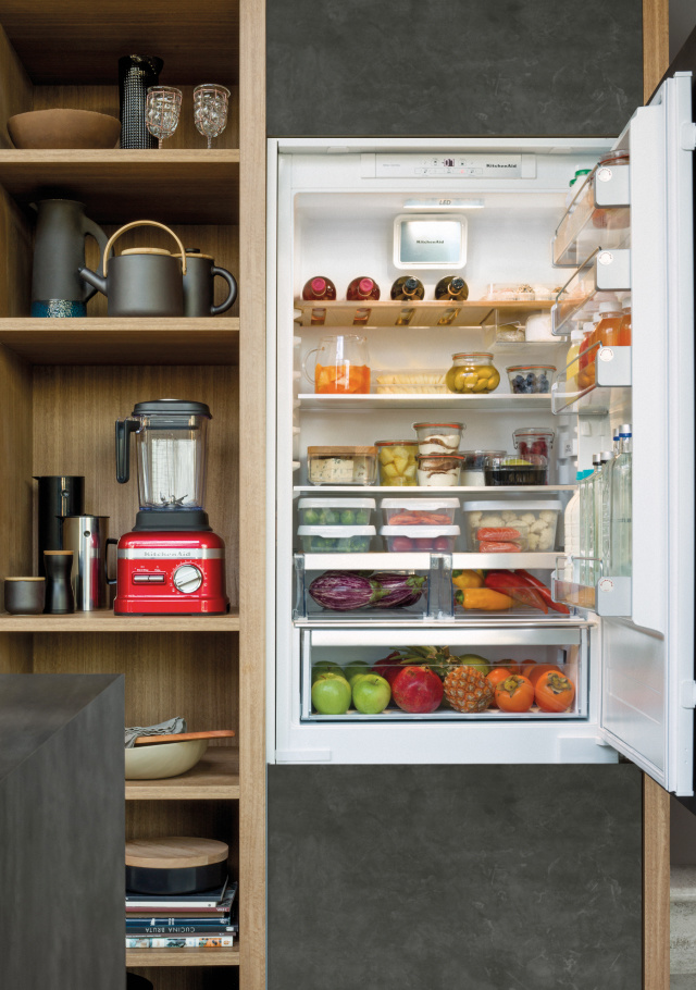 Free your creativity. In KitchenAid fridges, there's always more space.